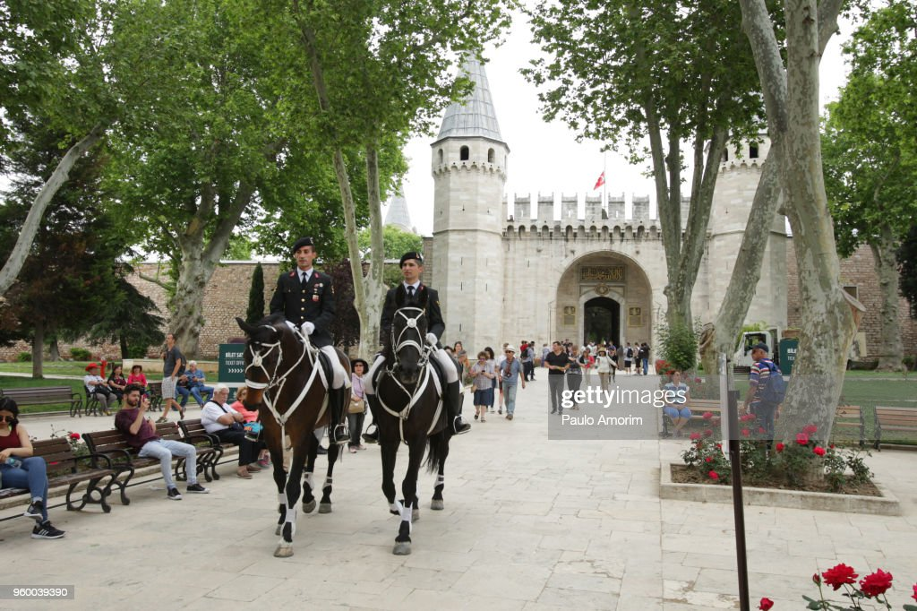Mounted Police Patrol in Istanbul,Turkey : Stock Photo