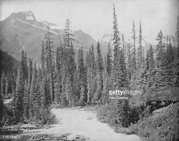 Mounts Cheops and Hermit Selkirk Range of the Rockies' circa 1897 View of Cheops Mountain in the Hermit Range of the Selkirk Mountains in British...