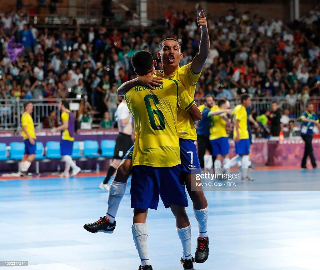 Brazil v Argentina: Men's Futsal Semi Final Buenos Aires Youth Olympics 2018 : News Photo
