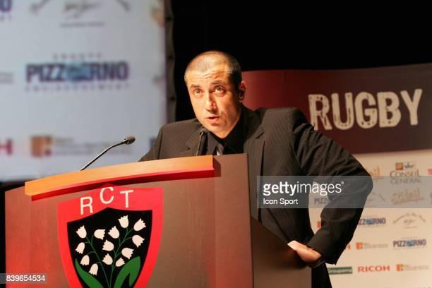 Mourad BOUDJELLAL - - Conference de presse - Presentation de Tana Umaga : nouveau manager ,