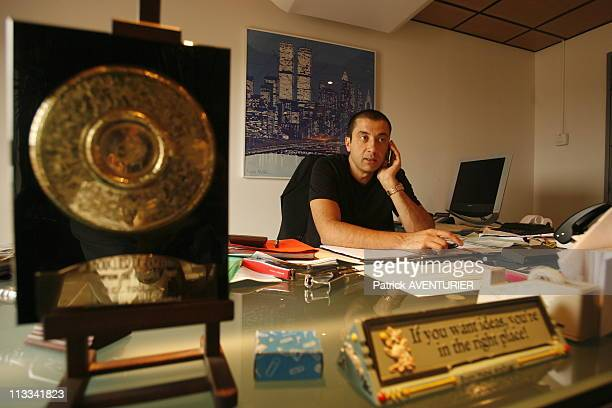 Mourad Boudjellal, Editor Of Comics And Copresident Of The Club Of Rugby Of Toulon, The Crt - On October 18Th, 2006 In Toulon, France - Here, Mourad...