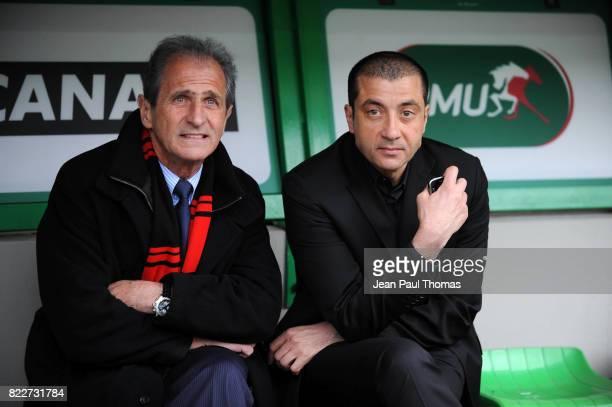 Mourad BOUDJELLAL / Hubert FALCO - maire de toulon - - Clermont / Toulon - 1/2 finale du Top 14 - Stade Geoffroy Guichard - Saint Etienne,