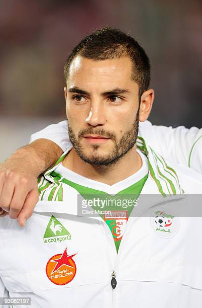 Mourad Meghni of Algeria during the FIFA2010 World Cup qualifying match between Egypt and Algeria at the Cairo International Stadium on November 14...