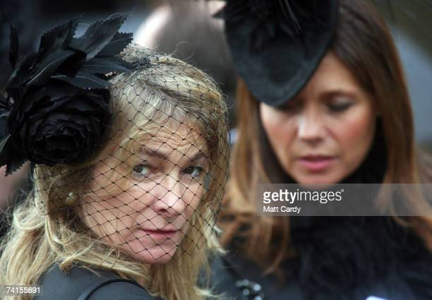 A mourner attends the funeral service for fashion stylist Isabella Blow at Gloucester Cathedral on May 15 2007 in Gloucester England The 48yearold...