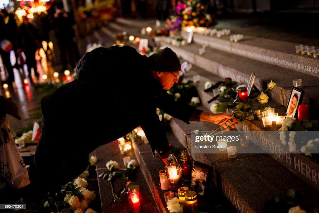 Germany Commemorates 2016 Christmas Market Terror Attack : News Photo