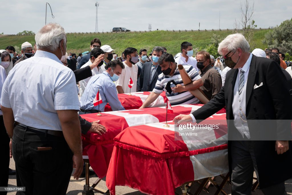 Funeral Held For Afzaal Family Killed In Hate Crime Vehicle Attack In London, Ontario : ニュース写真