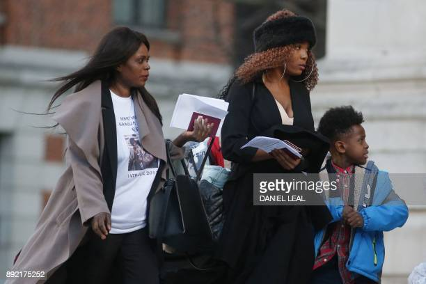Mourners arrive at St Paul's cathedral for a Grenfell Tower National Memorial service on December 14 2017 in central London The fire on June 14 in...