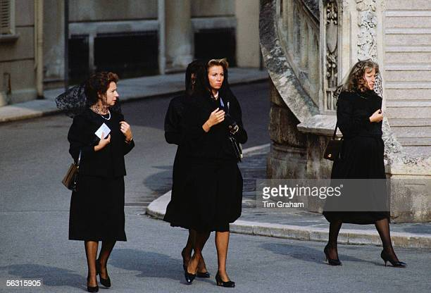 Mourners arrive for the funeral of Princess Grace of Monaco in Monte Carlo