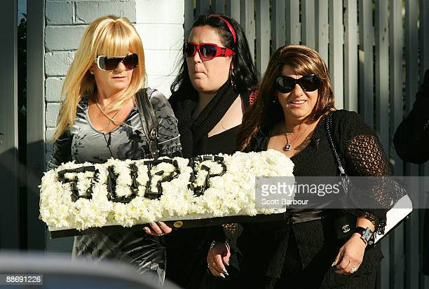 Mourners arrive for the funeral of underworld figure Desmond 'Tuppence' Moran at the Roselyn Court Homestead on June 26 2009 in Melbourne Australia...