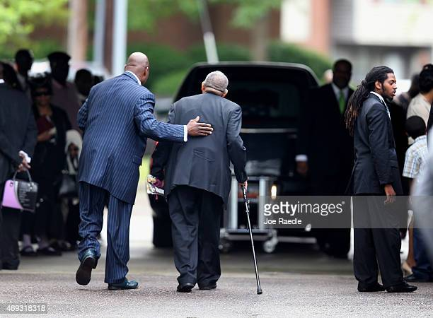 Mourners arrive for the funeral of Walter Scott at the WORD Ministries Christian Center after he was fatally shot by a North Charleston police...