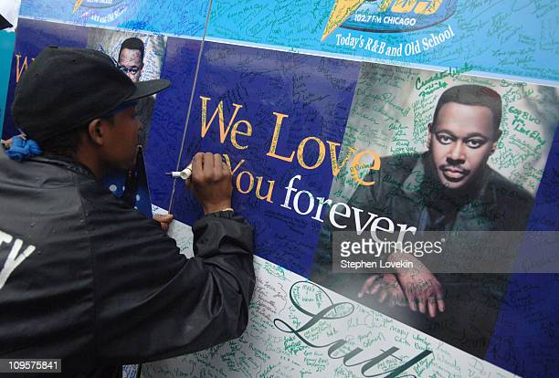 Mourners at the funeral service for Luther Vandross on Friday July 8 2005