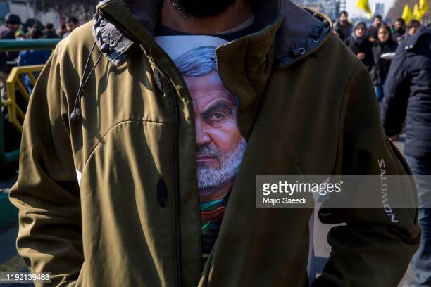 Mourners attend a funeral ceremony of Iranian Major General Qassem Soleimani and others who were killed in Iraq by a U.S. Drone strike on January 6,...