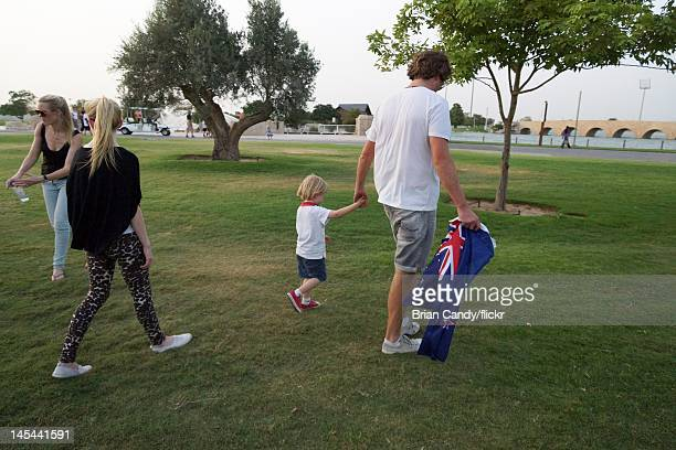 Mourners attend a vigil for the 19 victims of the Villaggio Mall fire in Aspire Park on May 29, 2012 in Doha, Qatar. 13 of the victims believed to be...