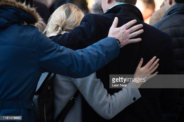 Mourners attend a vigil for victims Jack Merritt and Saskia Jones 23 of the London Bridge attack and to honour the public and emergency services who...