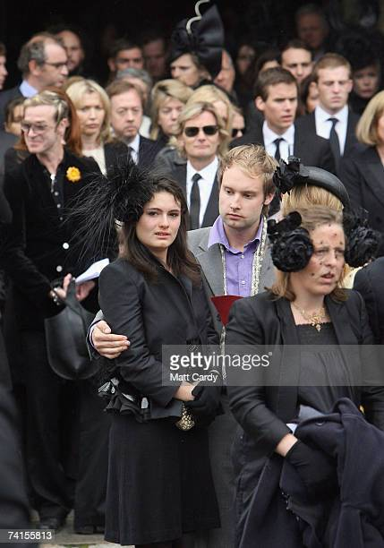 Mourners attend the funeral service for fashion stylist Isabella Blow at Gloucester Cathedral on May 15 2007 in Gloucester England The 48yearold who...