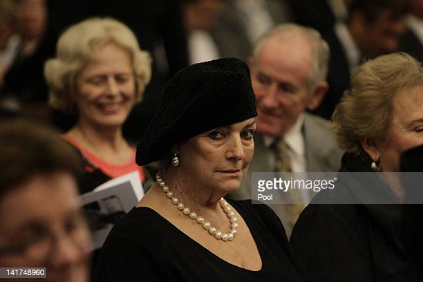 Mourners attend the Memorial Service for Margaret Whitlam at St James Anglican Church on March 23 2012 in Sydney Australia Mrs Whitlam wife of former...