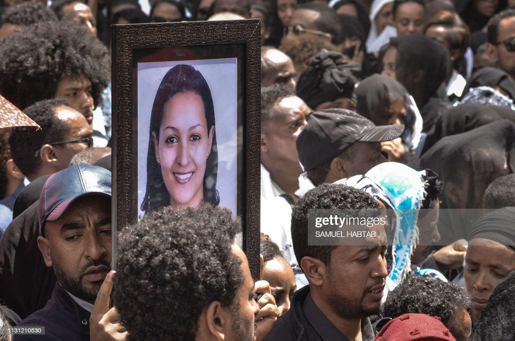 ETHIOPIA-KENYA-ACCIDENT-AIRPLANE-FUNERAL : News Photo