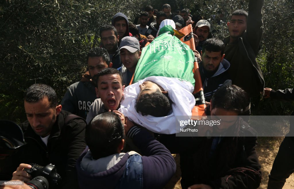 Funeral ceremony of a young Palestinian in Gaza