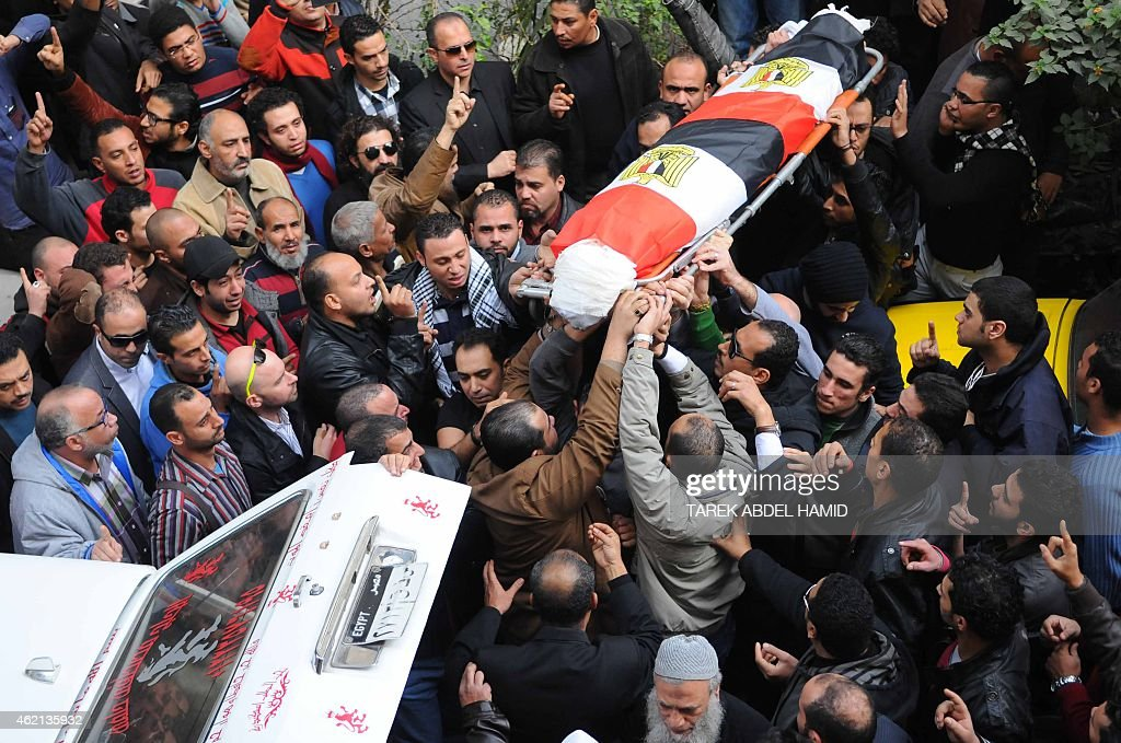 EGYPT-UNREST-DEMO-FUNERAL : News Photo