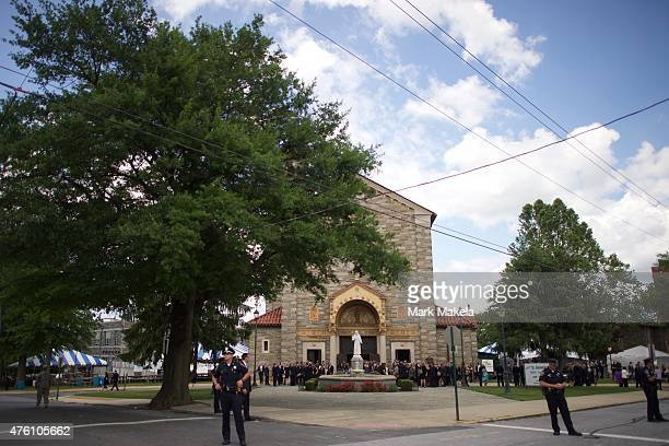 Mourners exit St Anthony of Padua Church after a mass of Christian burial was held for former Delaware Attorney General Beau Biden on June 6 2015 in...