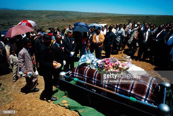 Mourners Gather At A Funeral July 10 2001 Outside Bisho