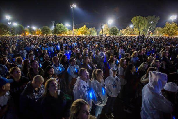CA: Santa Clarita Community Holds Vigil For Those Killed And Injured In Saugus High School Shooting
