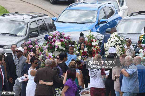 Mourners leave Woodland Hills Intermediate School after the funeral of Antwon Rose II on Monday June 25 2018 in Swissvale Pa Rose was killed by an...