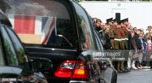 Mourners line the streets as the coffins of Lieutenant Colonel Rupert Thorneloe - the most senior British Officer to be killed since the Falklands...