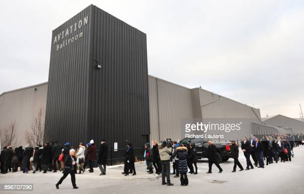 TORONTO ON DECEMBER 21 Mourners lined up early to make their way to the front doors of the hall Thousands came out to the International Centre for...
