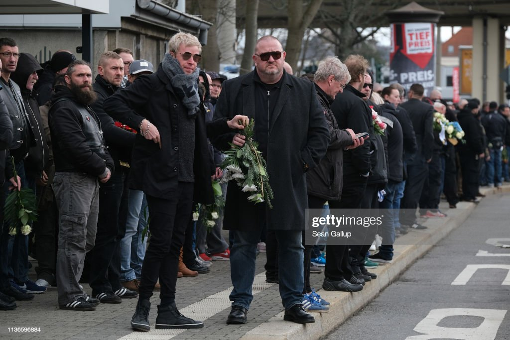 DEU: Hooligans Hold Funeral For Neo-Nazi Thomas Haller In Chemnitz