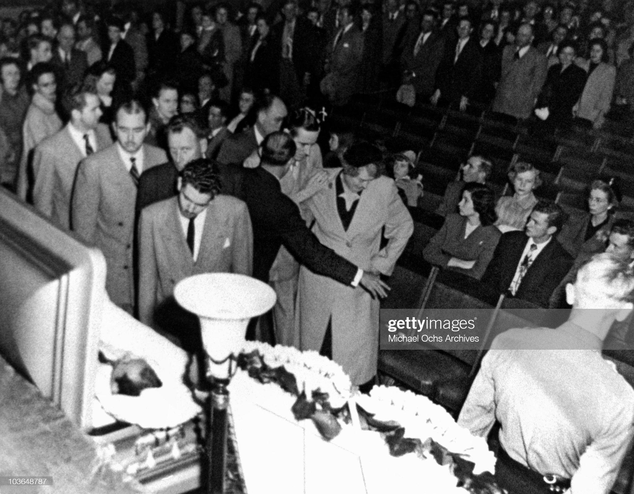 Hank Williams Funeral : News Photo