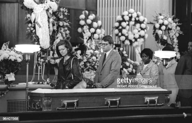 Mourners pay their final respects as the body of assassinated American Civil Rights leader Dr. Martin Luther King Jr. Lies in repose at Sisters...