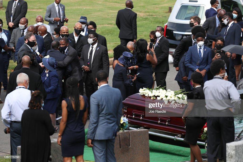 Funeral Held For Rep. John Lewis At Atlanta's Ebenezer Baptist Church : News Photo
