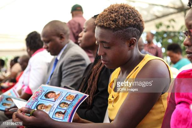 BAHATI NAKURU RIFTVALLEY KENYA Mourners seen following the proceedings during the memorial service Neighbors to the victims of the Ethiopian Airways...