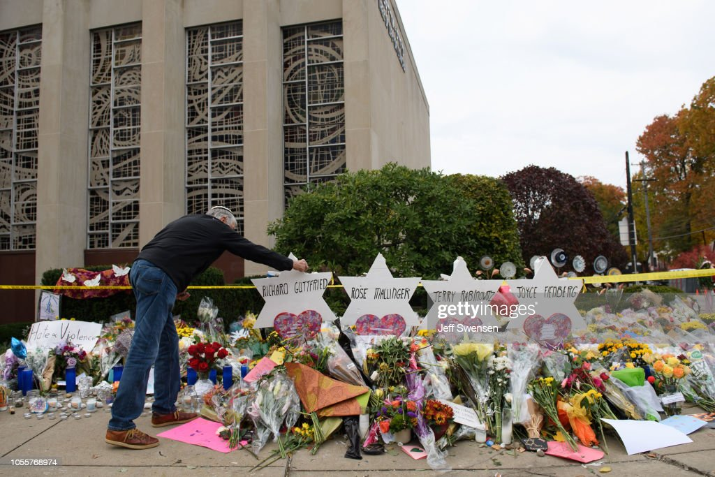 First Funerals Held For Victims Of Mass Shooting At Pittsburgh Synagogue : News Photo