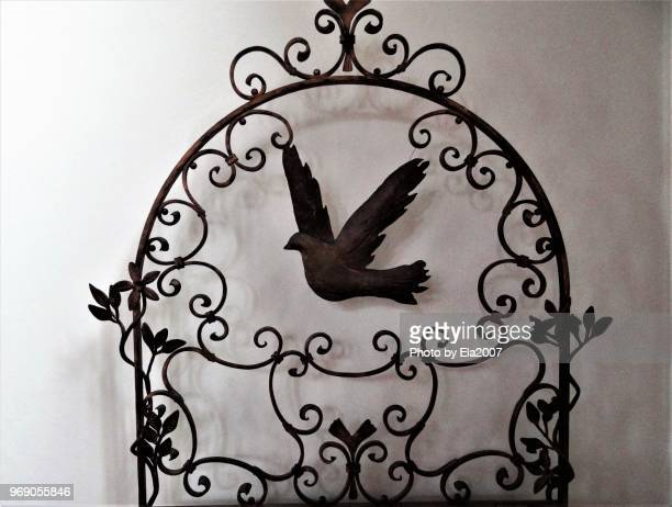Mourning card with dove, peace symbol