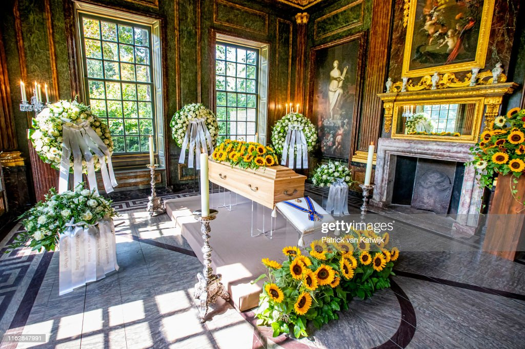Mourning chapel with the coffin of Princess Christina 20 August 2019 : News Photo