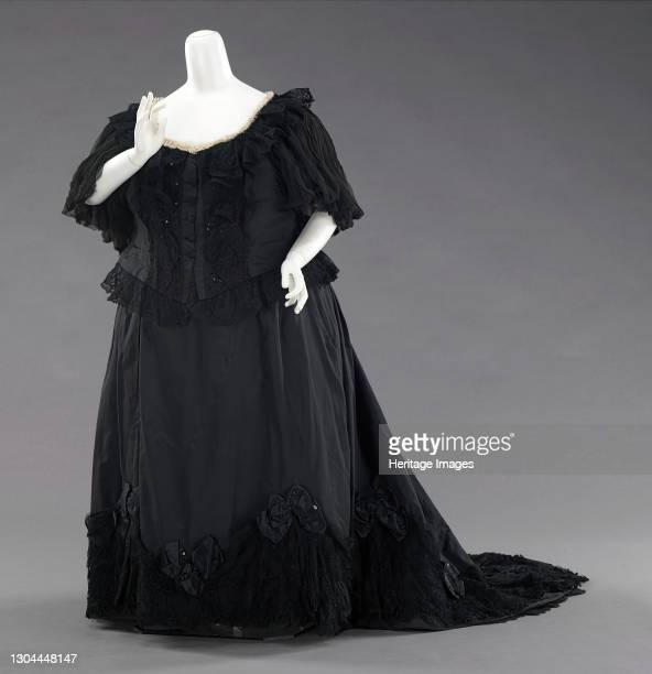 Mourning dress, British, 1894-95. [Worn by Queen Victoria.]Artist Unknown.