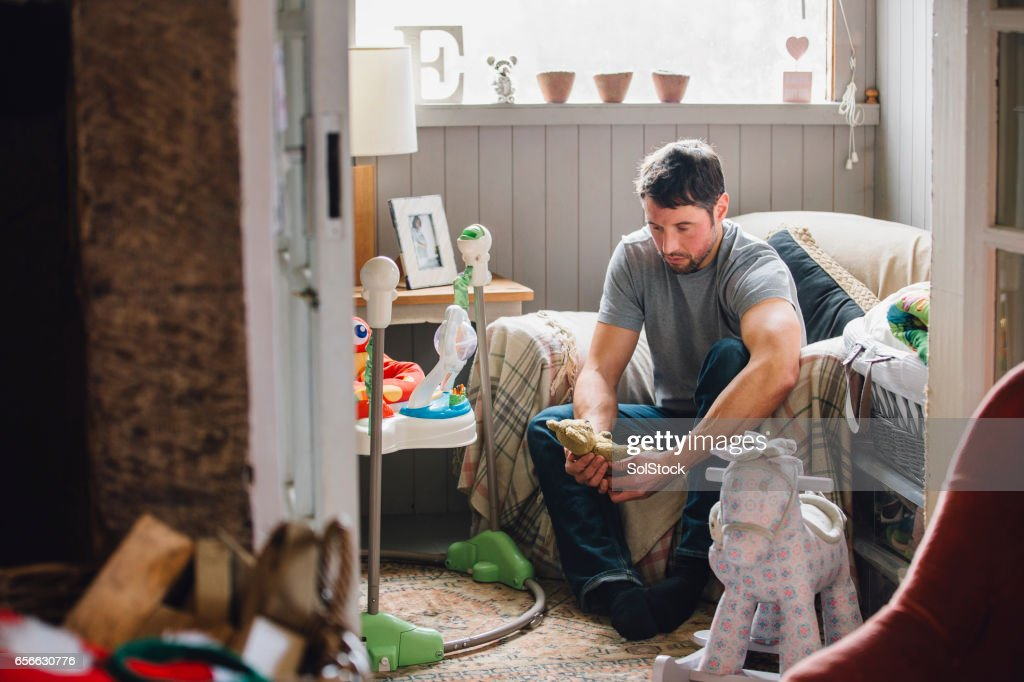Mourning Father : Stock Photo