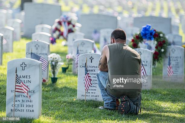Mourning Heavy Loss Arlington National Cemetery Memorial Day