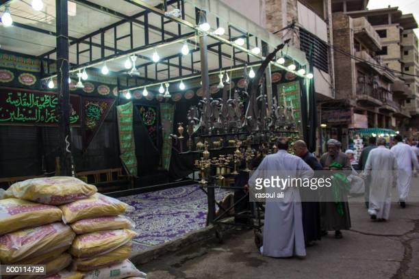 Mourning processions to receive pilgrims in Karbala and Kazimiya