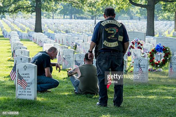 Mourning their Heavy Loss at Arlington National Cemetery