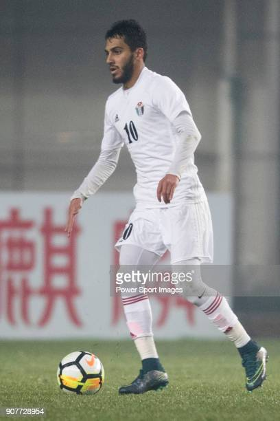 Mousa Al Taamari of Jordan in action during the AFC U23 Championship China 2018 Group C match between Iraq and Jordan at Changshu Sports Center on 16...