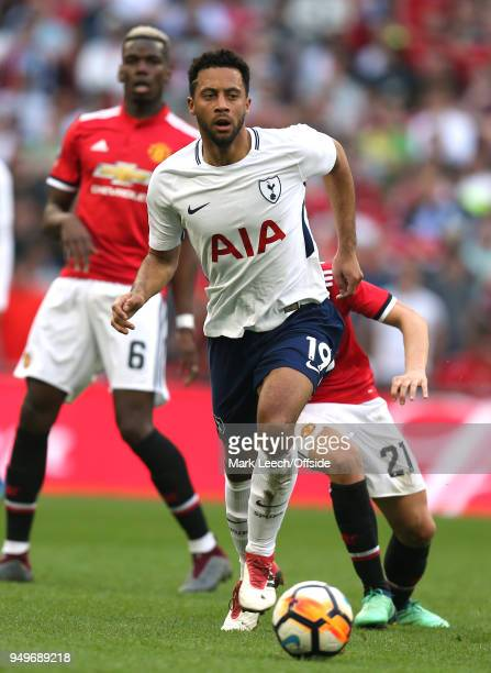 Mousa Dembele of Tottenham during the FA Cup semi final between Manchester United and Tottenham Hotspur at Wembley Stadium on April 21 2018 in London...