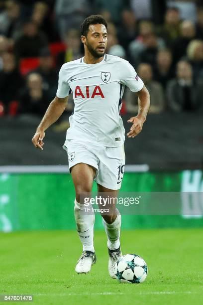 Mousa Dembele of Tottenham Hotspur controls the ball during the UEFA Champions League group H match between Tottenham Hotspur and Borussia Dortmund...