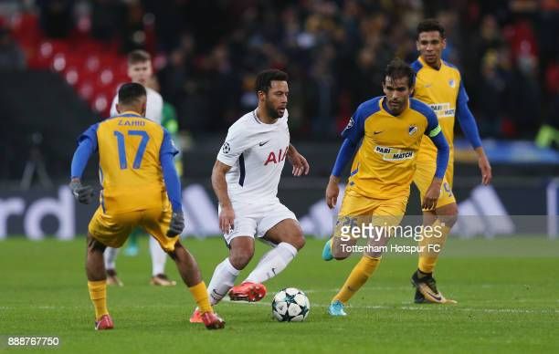 Mousa Dembele of Tottenham Hotspur during the UEFA Champions League group H match between Tottenham Hotspur and APOEL Nikosia at Wembley Stadium on...