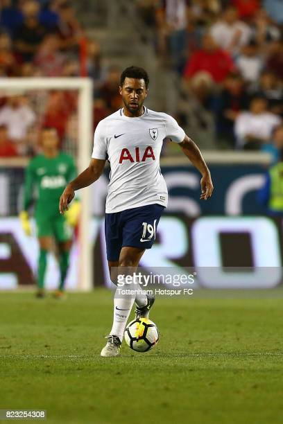 Mousa Dembele of Tottenham Hotspur in action against Roma during the International Champions Cup 2017 at Red Bull Arena on July 25, 2017 in Harrison,...