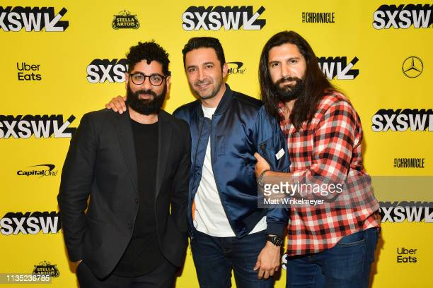 Mousa Kraish Pej Vahdat and Kayvan Novak attend the The Day Shall Come Premiere 2019 SXSW Conference and Festivals at Paramount Theatre on March 11...