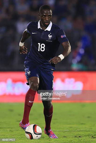 Mousa Sissoko of France in action during the International friendly match between Serbia and France at the Stadium JNA on September 07 2014 in...