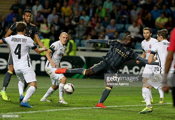 Mousa Sow of Fenerbahce in action during the UEFA Europa League Group A match between FC Zorya Luhansk and Fenerbahce at Chornomorets Stadium in...